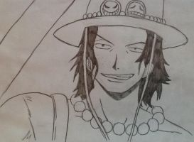 Portgas D. Ace by Staramelia