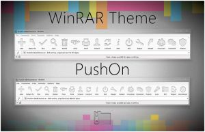 PushOn  WinRAR theme by alexgal23