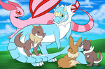 PKMNation | Commision | Family Picture by LunaStar52