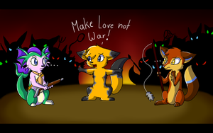 Make Love not war by CrispyCh0colate
