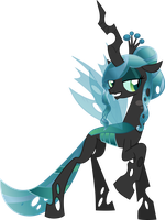 Crystal Queen Chrysalis sans crystals by PrinceOfRage