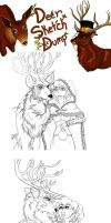 Sketchdump 9 (Deer Edition) by Boxjelly1