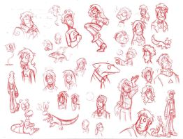 Look It's A TD Sketchdump by Sheana