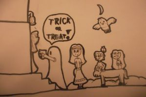 Trick or Treat! (almost done) by LudwigGirl