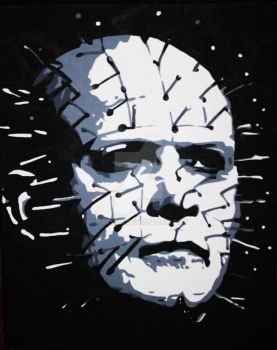 Pinhead Acrylic Painting by roxyms