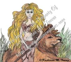 Lion And Jungle Woman by Katrina1944