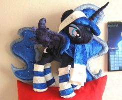 Winter Princess Luna plush by MalwinaHalfMoon