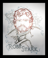 Robb Stark Embroidery by padfootb3