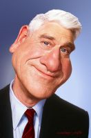 Leslie Nielsen A Caricature Study by RodneyPike