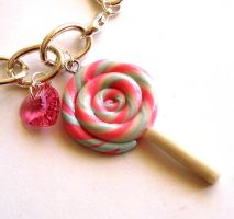 Cotton Candy Lollipop Bracelet by FatallyFeminine