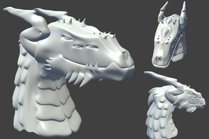 Avatar Dragon WIP - BasicShape by FengL0ng