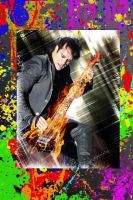 John Cooper with Paint Splatter Background by PanheadBrittany