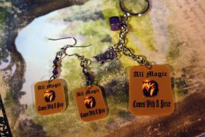 Rumple Earrings and Key Chain by KouranKiyo