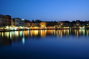 Chania at Night by DynOpt