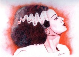 The Bride of Frankenstein by SAMWHINCUP