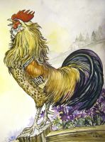 Rooster WAKE UP by HouseofChabrier
