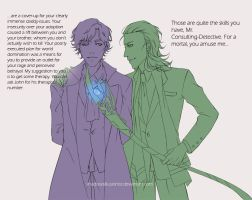 The God of Mischief vs The Consulting Detective by ShadowsIllusionist