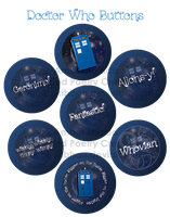Doctor Who Buttons by Boundbyribbon
