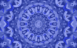 Kaleidoscope Shades of Blue by Saberryna