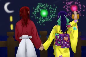 Fireworks for the New year by Muttered-innocence