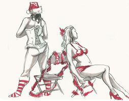 Dr. Sketchy's X-Mas 2 by timswit