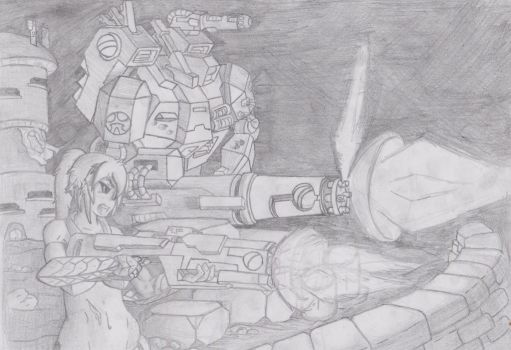 relentless defence (uncoloured) by stevoE26