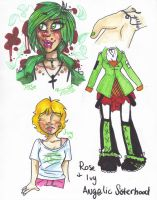Rose and Ivy: New OCs by NRRDiSKUNK