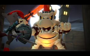 Gamespark vs Dry Bowser by insaneplayer03