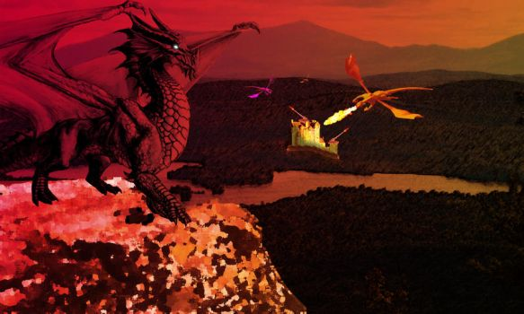 Dragons are Here by linton41b