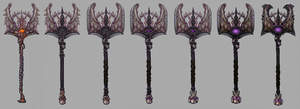 Demonic War Axe by 0Hayes