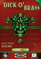 Dick O' Brass concert poster by R1Design