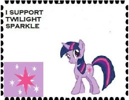 I Support Twilight Sparkle Stamp by Teamscout11