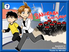 Eyeshield 21 Shin and Sakuraba by Kugen