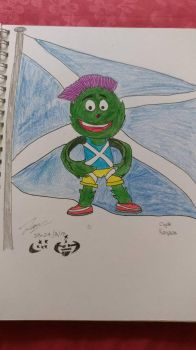 Drawing of Scottish mascot Clyde by HRSArtOffical1103