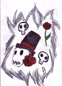 Un-emo-Skulls and roses by Puppiebutter
