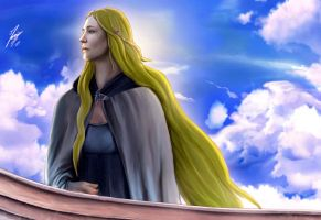 Galadriel leaving by Moumou38