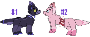 40 point gorepups adoptables (CLOSED) by gemsoil