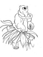 Hula bear by Baitti