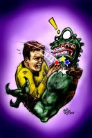 Captain Kirk versus The Gorn by hoganvibe