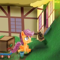 Scootaloo's Lonely Alleyway home by gregeyman555