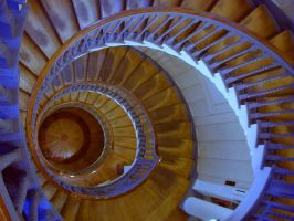 spiral staircase by clandestine-stock