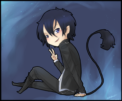 Blue exorcist - Chibi rin by Rika-Wawa