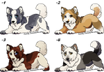 4 puppies _ adoptable _ CLOSED by LewKat