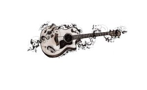 Guitar Tattoo Sketch by MssMime