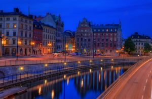 Narrow City Stream by HenrikSundholm