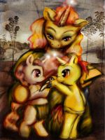 Maredonna and the Goldfinch by ceredwyn
