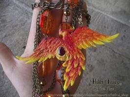 Phoenix Necklace OOAK 2 by Hidden-Treasury