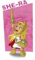 Meejitz - She Ra CARTOON by happymonkeyshoes