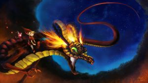 Link and Volcania by Zefy