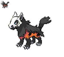 Pokefusion: Mightyena/Cubone/Arcanine by PokemonMasterART